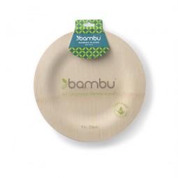 Bambus Teller Rund 8er Set | 23cm