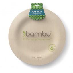 Bambus Teller Rund 8er Set | 28cm
