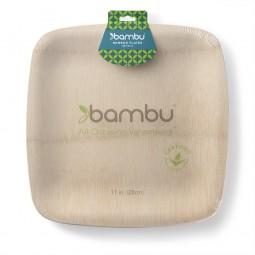 Bambus Teller Quadratisch 8er Set | 28cm